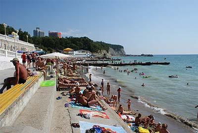 Фото пляжа энергетик в дивноморском